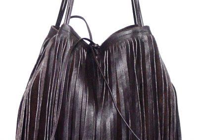 Brown Bag Sued Leather Fringe 2