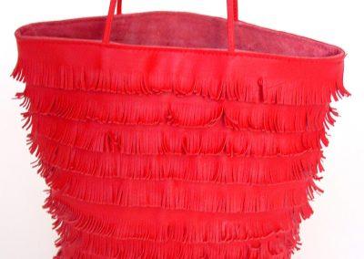 Red Bag With Short Fringe 2