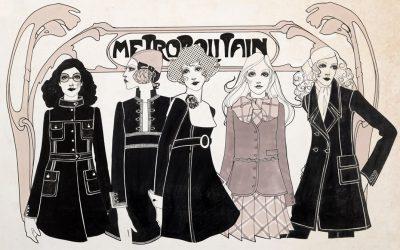 Vintage Fashion Illustrations in London